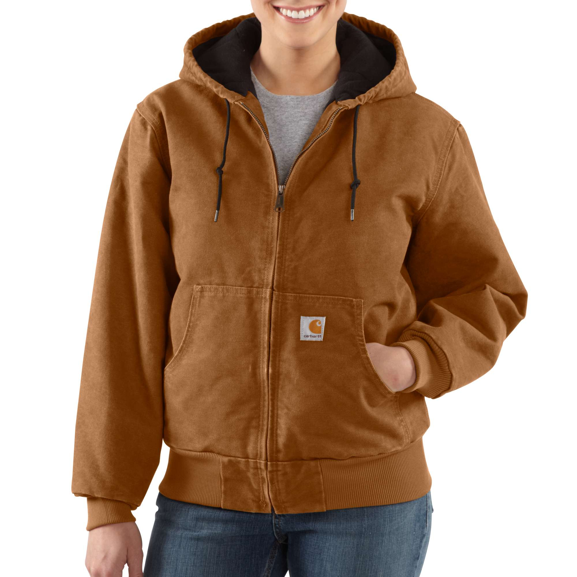 Carhartt Sandstone Quilted-flannel Active Jac | Women | Carhartt
