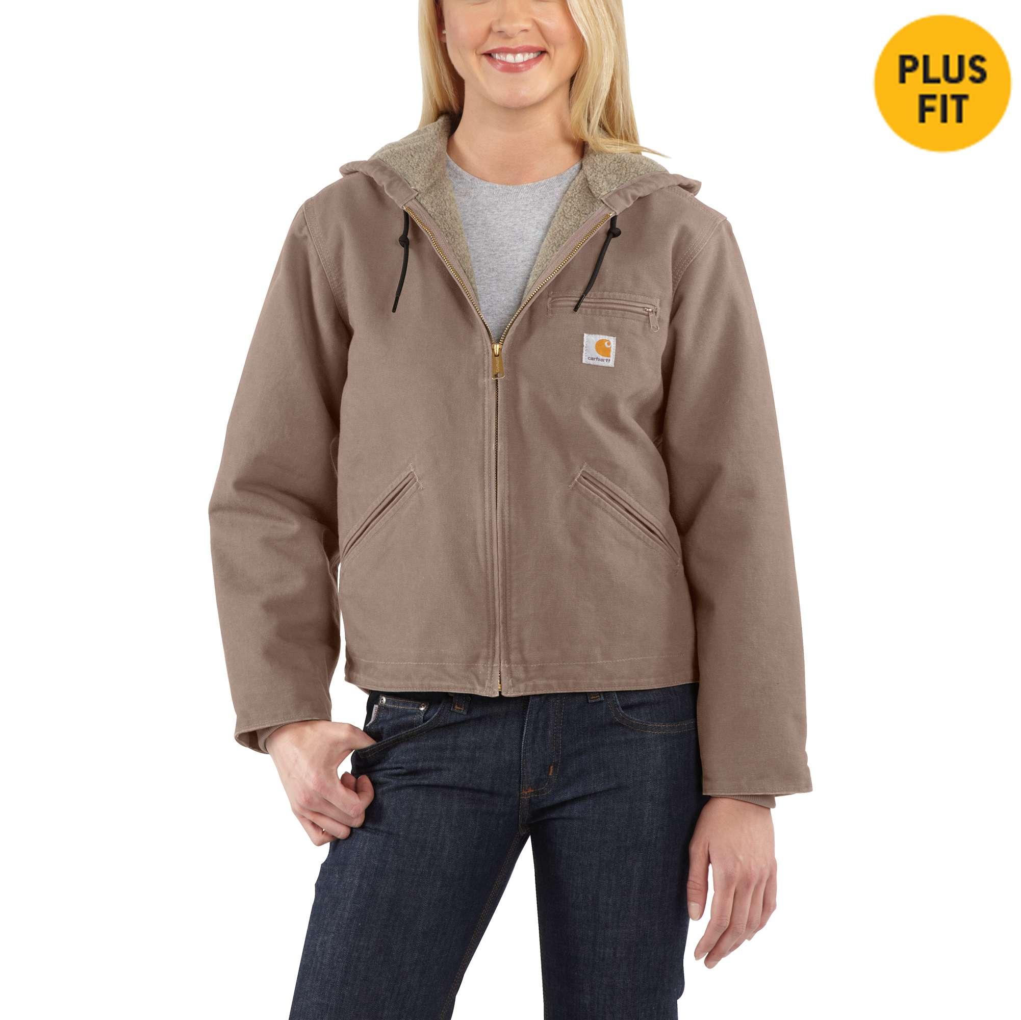 Carhartt Women's Sandstone Sherpa-lined Sierra Jacket Size: XL