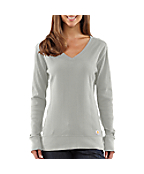 Women's Variegated Rib Knit V-Neck
