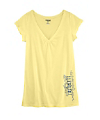 Women's Cap-Sleeve Old English V-Neck T-Shirt