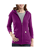 Women's Three-Quarter Sleeve Waffle Hooded Zip