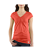 Women's Cap-Sleeve V-Neck T-Shirt