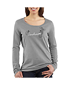 Women's Tonal Carhartt Embroidered-Logo Long-Sleeve T-Shirt
