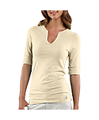 Women's Elbow Sleeve Solid T-Shirt