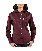 Women's Work Wash Twill Snap-Front Shirt