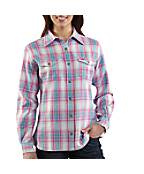 Women's Midweight Flannel Button-Front Shirt
