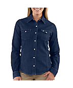 Women's Denim Snap-Front Shirt
