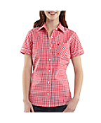 Women's Short-Sleeve Gingham Shirt