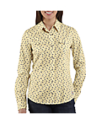 Women's Snap-Front Printed Cotton Shirt