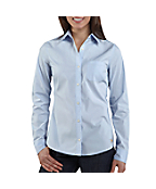 Women's Long-Sleeve Solid Woven Shirt