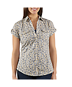 Women's Short-Sleeve Printed Camp Shirt