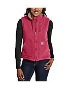 Women's Sandstone Mock-Neck Vest/Sherpa-Lined