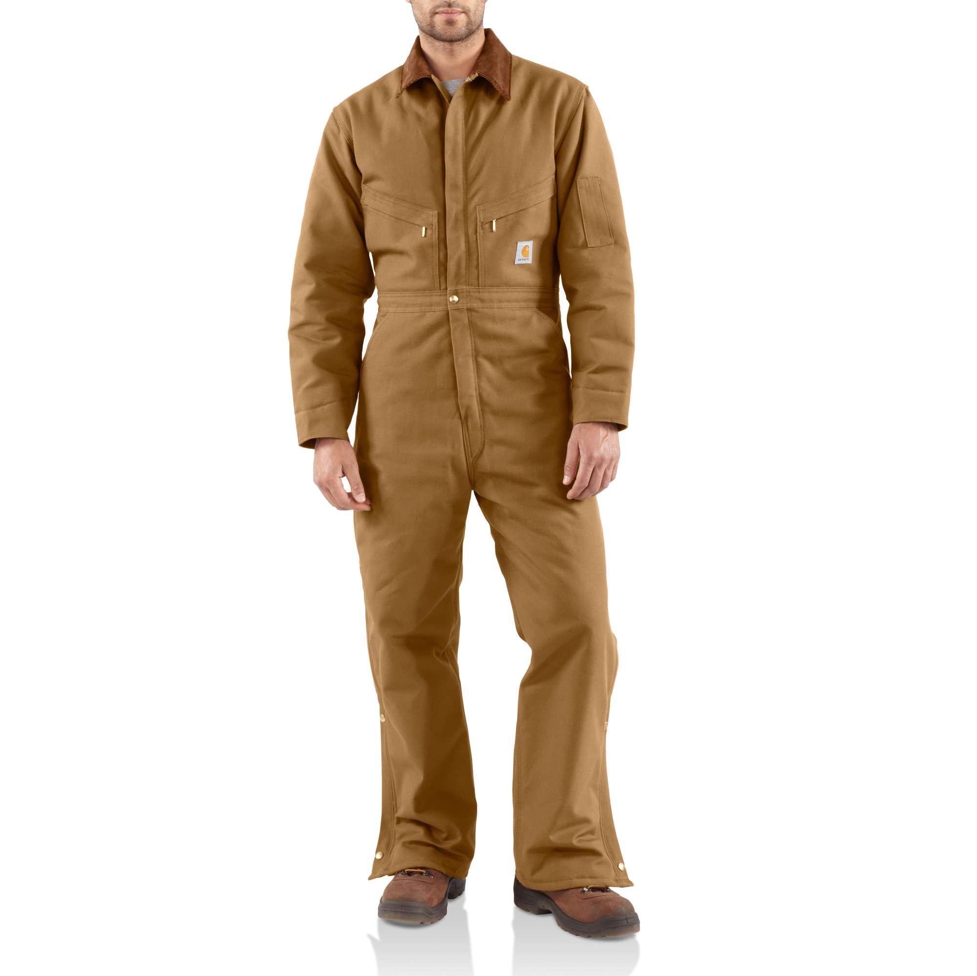 Carhartt Duck Coveralls / Quilt-lined