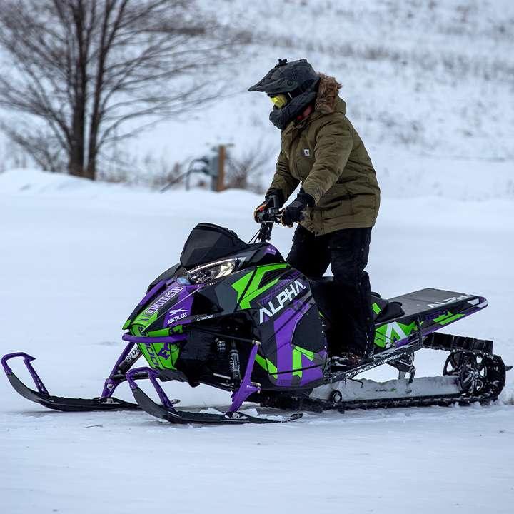 snowmobiler Tom Friar
