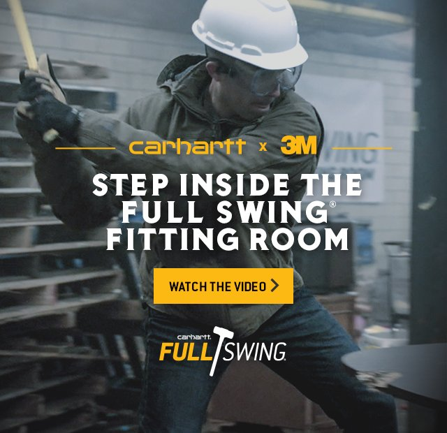 Carhartt Partnered with 3m to show what Full Swing is really capable of with room to move