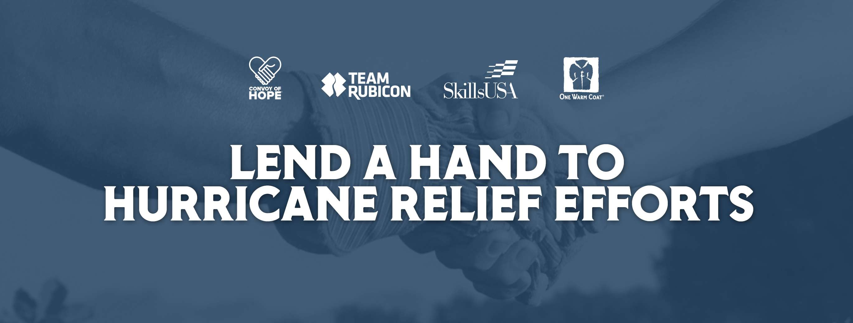 LEND A HAND TO HURRICANE RELIEF EFFORTS