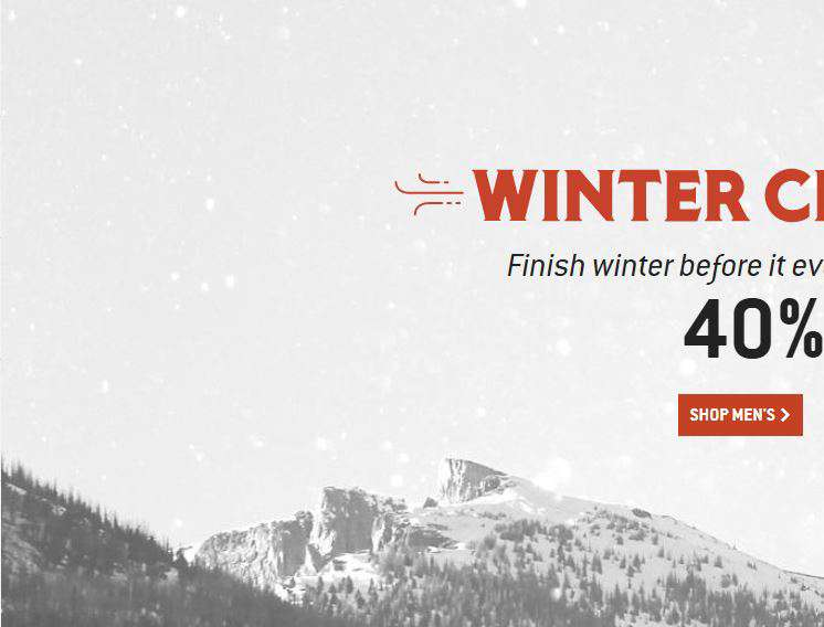 Winter Clearance Sale, Shop Mens Gear