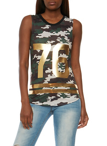Camouflage 76 Graphic Tank Top,CAMOUFLAGE,large