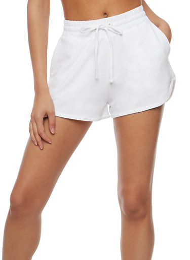 Athletic French Terry Drawstring Shorts