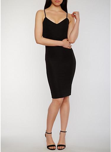 Sweetheart Neck Bandage Dress with Adjustable Straps,BLACK,large
