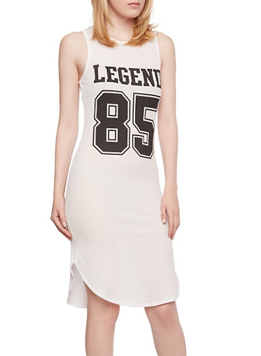 Legend 85 Tank Dress,WHT-BLK,large
