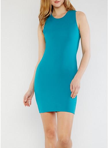 Sleeveless Bodycon Mini Dress,SUPER JADE,large