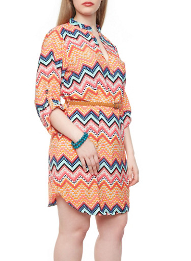 Plus Size Chevron Tunic Dress Chevron Print Tunic Dress