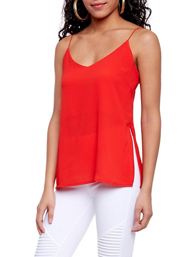 Crepe Cami Top,POPPY,large