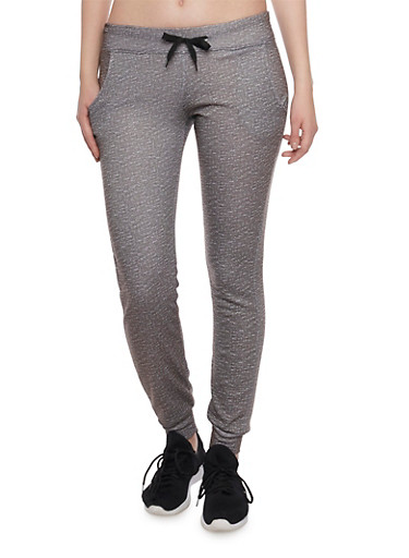 Slim Joggers with Super Love Graphic,GREY,large