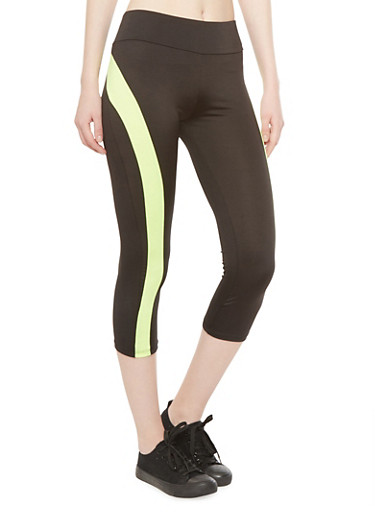 Performance Capri Leggings with Contrast Trim,CROSSFIT LIME/BLK,large