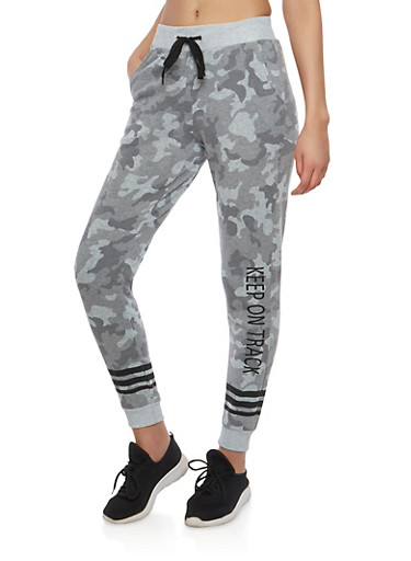 Graphic Camo Joggers,SAGE,large