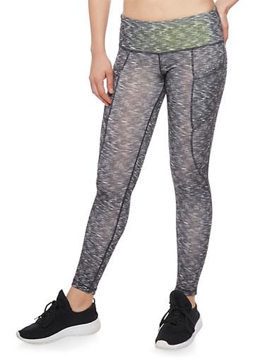 Activewear Space Dye Cropped Leggings,BLACK,large