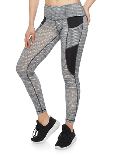 Cropped Activewear Leggings,BLACK,large