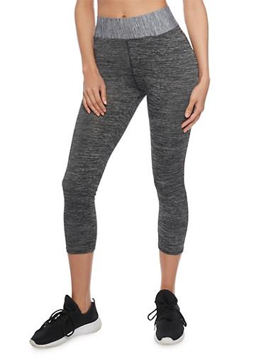 Love USA Activewear Capri Leggings,HEATHER,large