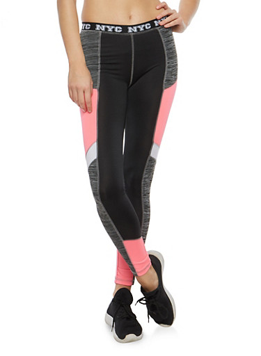 NYC Graphic Leggings,CHARCOAL,large