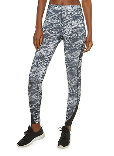 Slay All Day Printed Active Leggings,BLACK,large
