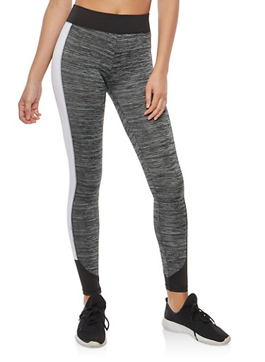 Marled Active Leggings,CHARCOAL,large