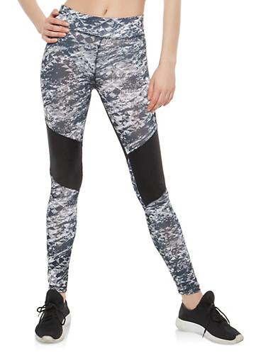 Color Block Active Leggings,BLACK,large