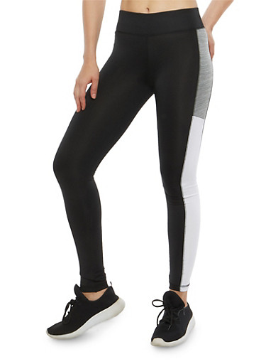 Color Block Activewear Leggings,HEATHER,large