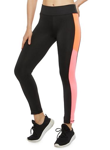Color Block Activewear Leggings,PINK,large