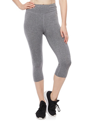 Yoga Capri Pants,CHARCOAL,large