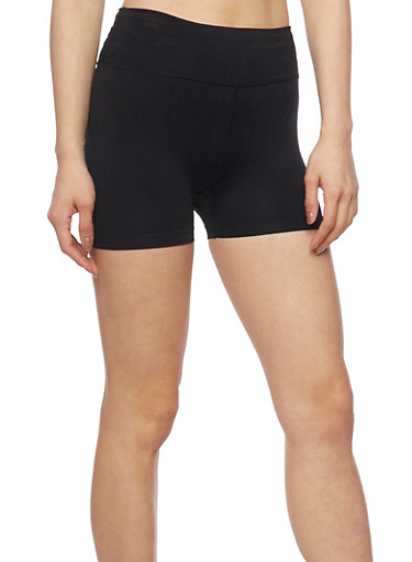 Soft Knit Short Bike Shorts,BLACK,large
