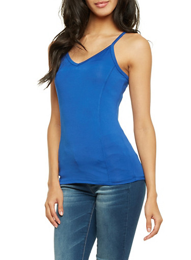 Camisole with Architectural Back Straps,RYL BLUE,large