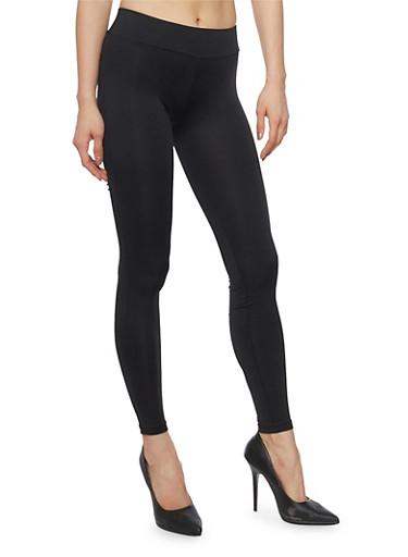 Solid Push Up Activewear Leggings,BLACK,large