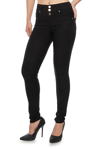 Almost Famous Stretch Skinny Pants,BLACK,large