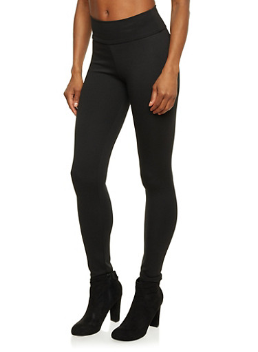 Leggings with High Waisted Paneling,BLACK,large