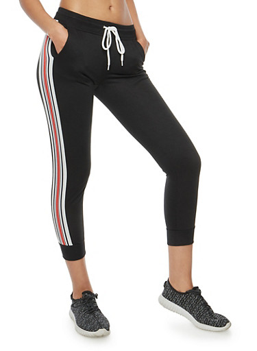 Side Stripe Joggers,BLACK,large
