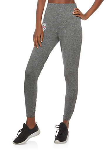 Love Lace Up Back Casual Pants,CHARCOAL,large