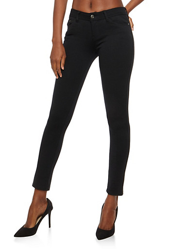 Skinny Stretch Pants,BLACK,large