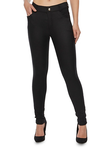 Stretch Knit Skinny Pants,BLACK,large